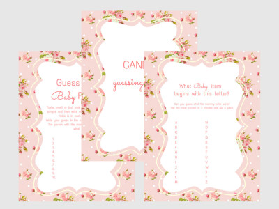 Girl Baby Shower Games, Baby Shower Games
