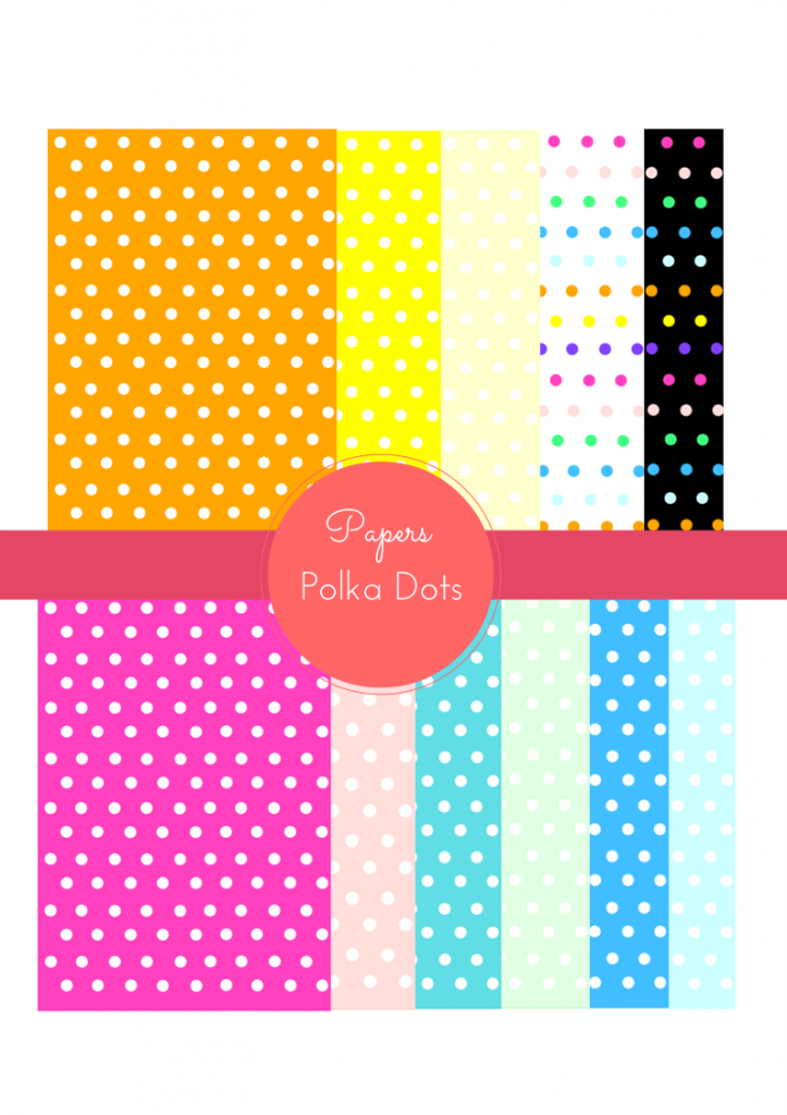 Free polka dot digital paper