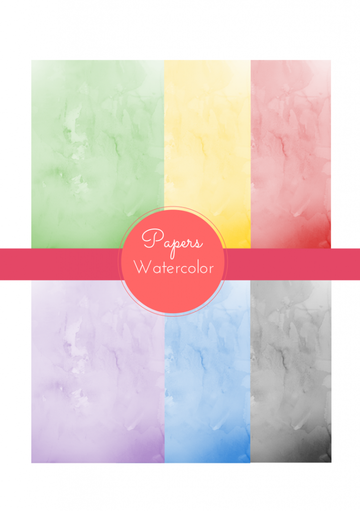 free watercolor digital papers