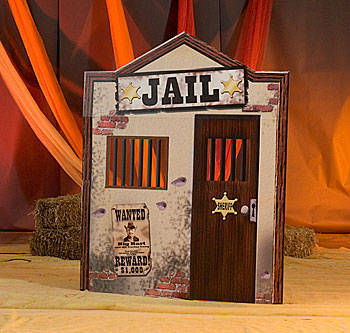 Old West Jail Standee