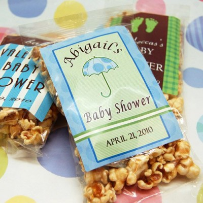 Personalized Baby Shower Caramel Corn
