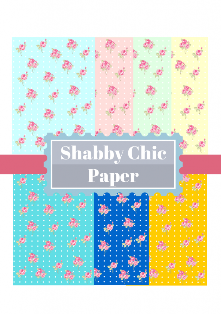 free shabby chic digital papers