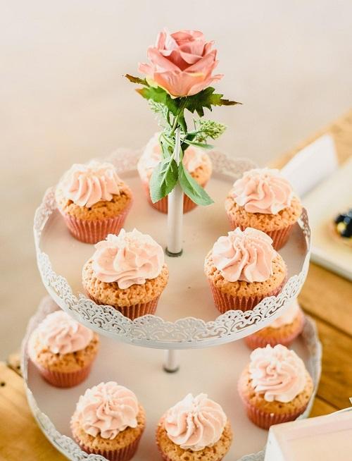 Tiered Cupcakes centerpiece