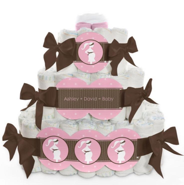 silhouette diaper cake