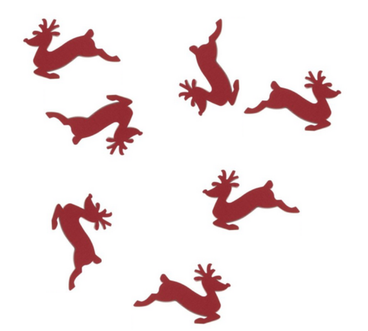 leaping reindeer confetti