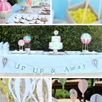 Hot Air Balloon Baby Shower (Rainbow)