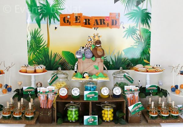 Wild Safari Animals Baby Shower Dessert Table