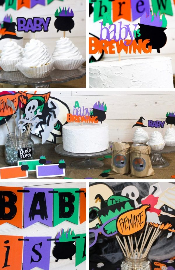 baby is brewing halloween baby shower decoration supplies