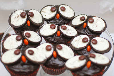 Owl Themed Baby Shower Oreo M&M Cupcake