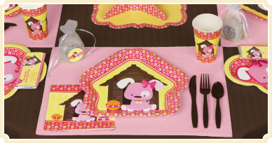 Puppy Dog Themed Baby Shower Tableware