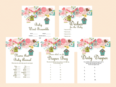 bird theme baby shower games