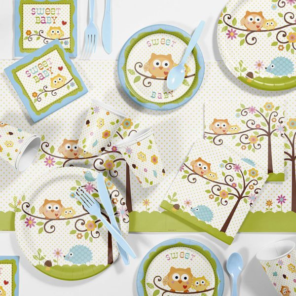 boy-owl-baby-shower-tableware-supplies