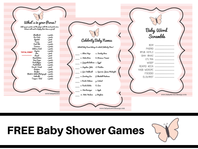 butterfly-theme-baby-shower-FREE-PRINTABLE-BABY-SHOWER-GAMES-baby-word-scramble-baby-celebrity-whats-in-your-purse