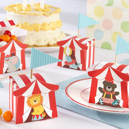 circus-animal-favor-boxes Circus Baby Shower Theme Ideas