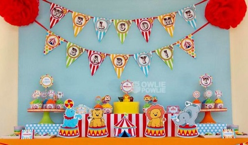 first birthday circus party ideas