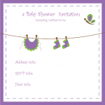 Free Printable Purple Invitation