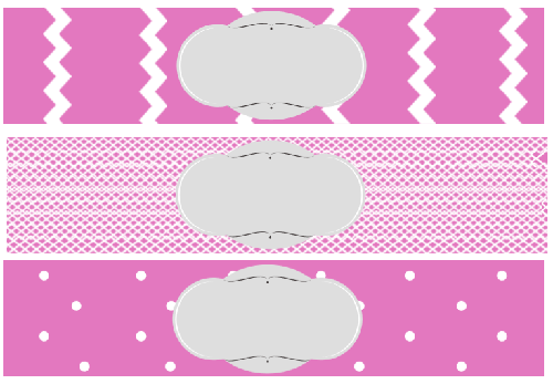 free printable baby shower water bottle label pink