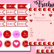 free valentine baby shower package xoxo