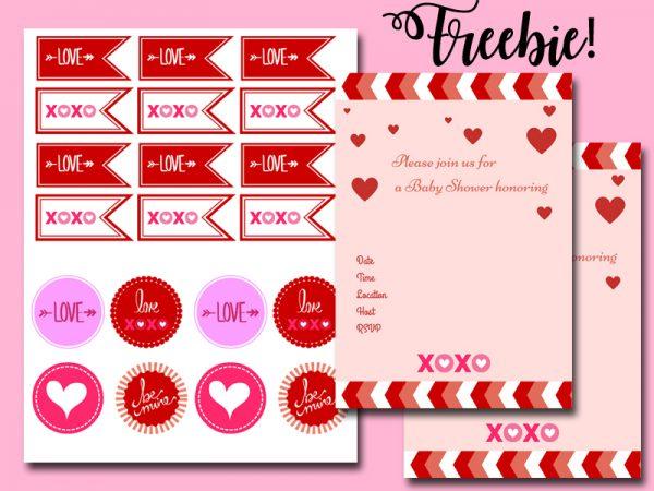 free valentine baby shower package xoxo