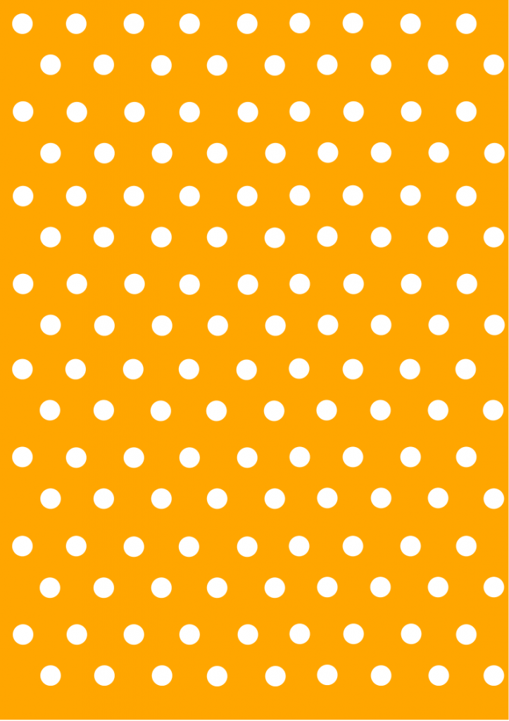 polka dot papers  orange