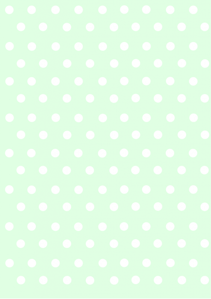polka dots papers pastel green