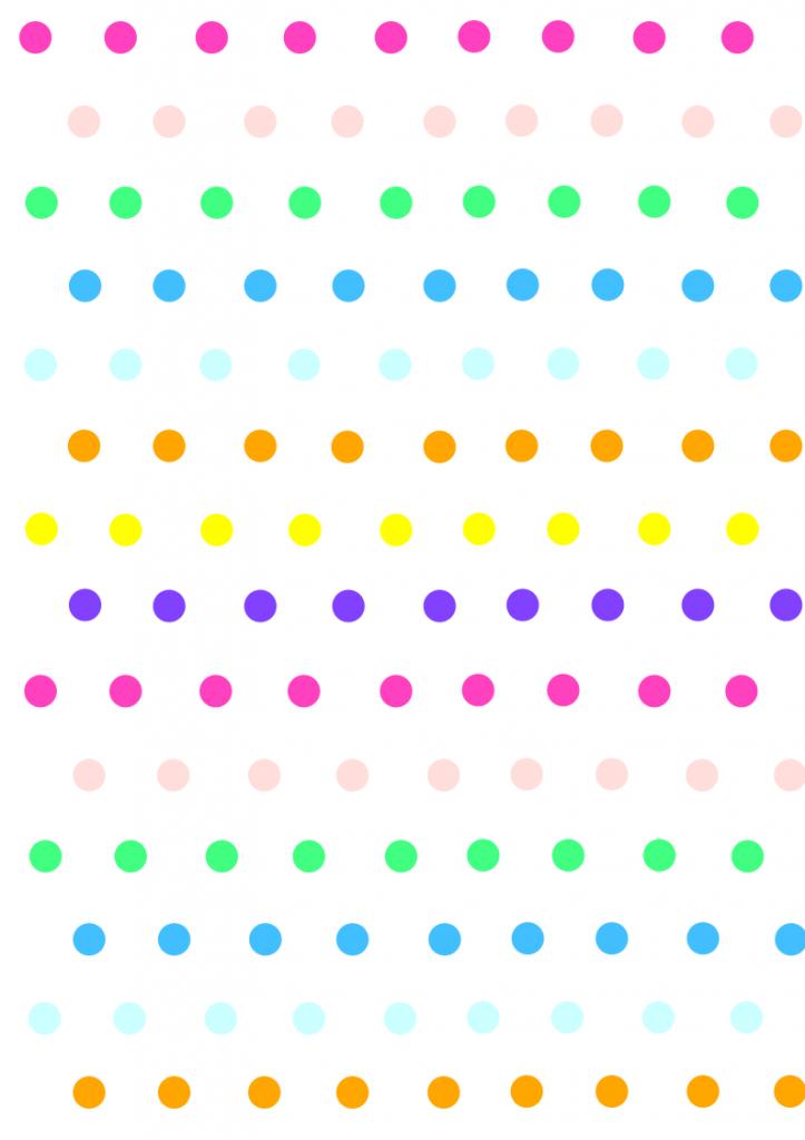 polka dots rainbow