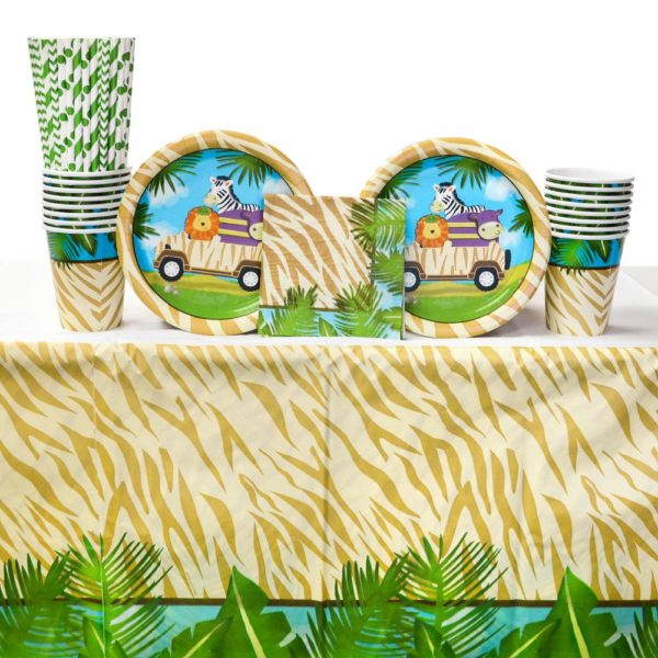 safari-baby-shower-jungle-tableware-supplies