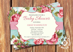 shabby chic invite