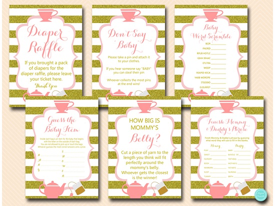 tlc629-tea-party-baby-shower-games-pink-and-gold