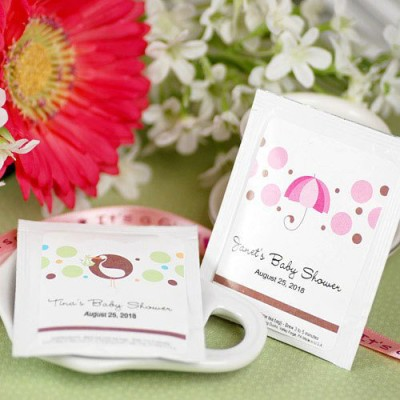 umbrella shower Baby Shower Tea Bags