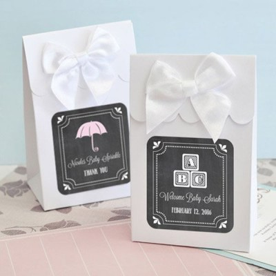 umbrella shower Personalized Chalkboard Candy Bags