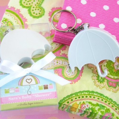 umbrella shower Personalized Umbrella Baby Shower Tape Measure