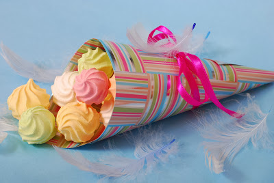 using patterned paper for paper cones