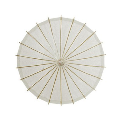 white-paper-parasols rain themed baby shower