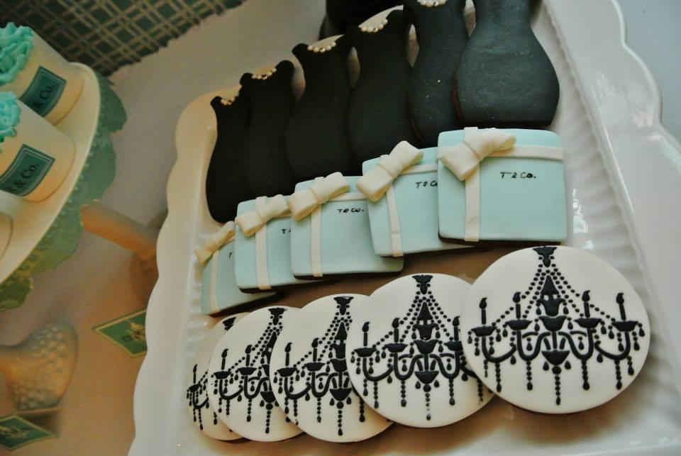 Audrey Hepburn's iconic black dress cookies