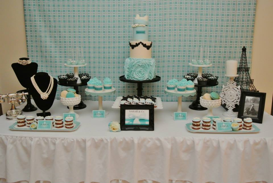 Tablescape for  Tiffany Baby Shower Ideas