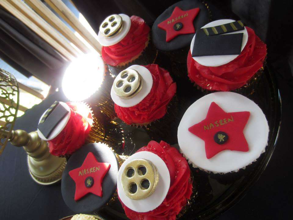 Hollywood Baby Shower - A Star is Born cupcakes