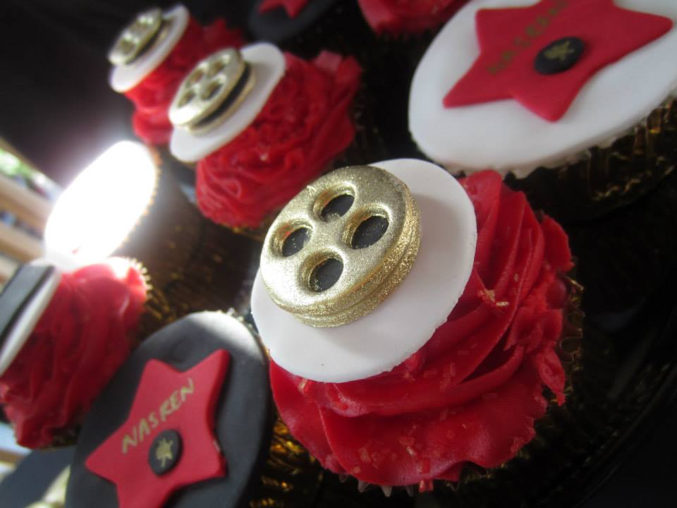 film reels edible cupcake toppers