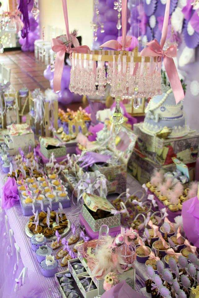 princess theme dessert table