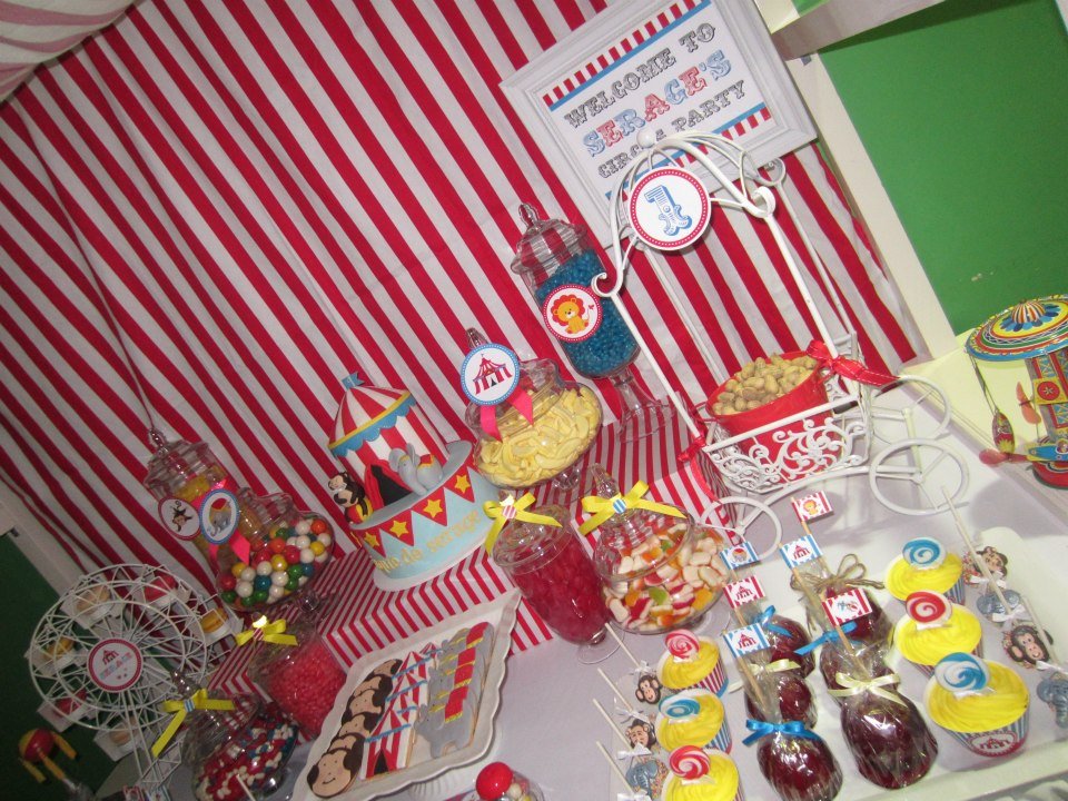 Circus Birthday Party backdrop