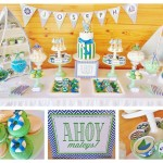 Green & Blue Chevron Nautical Party