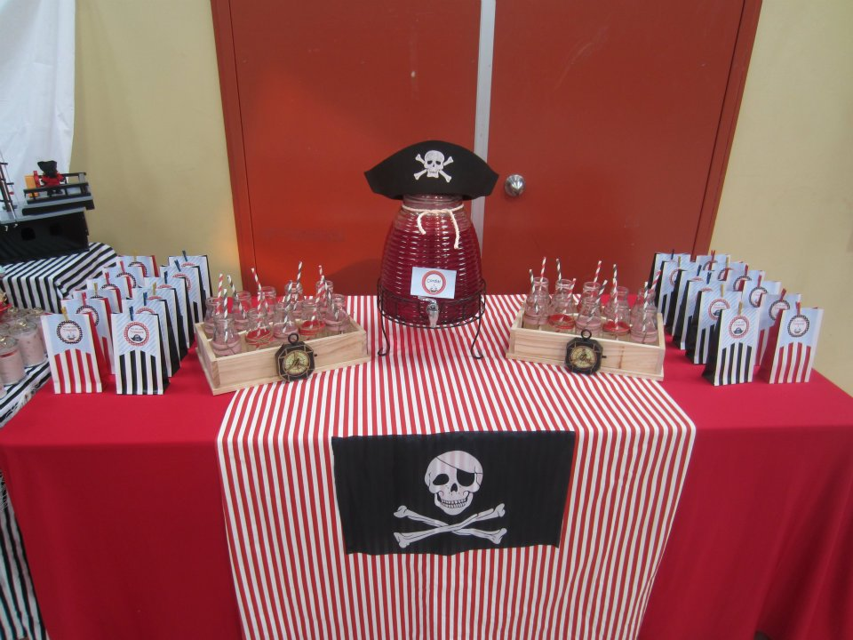 Drink station with all the pirate things