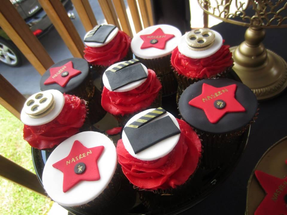 film reels, all stars cupcakes
