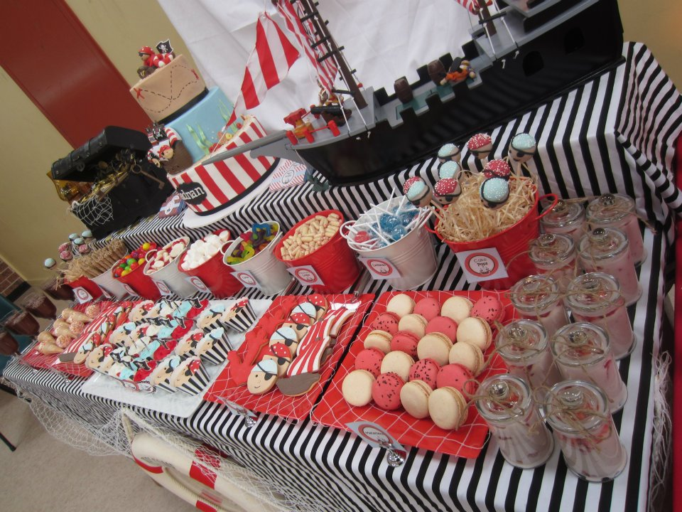pirate themed party tablescape