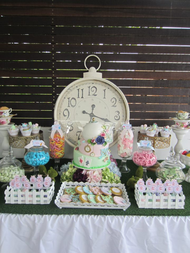 Alice In Wonderland Party Lopsided Teapot Cake