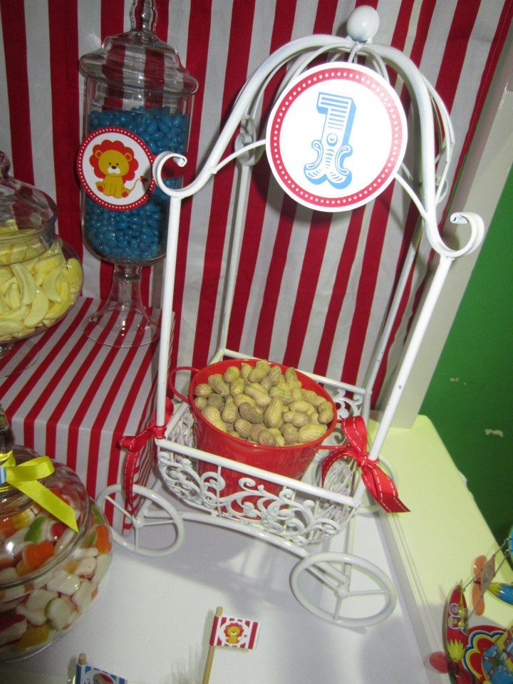 peanuts in red tin