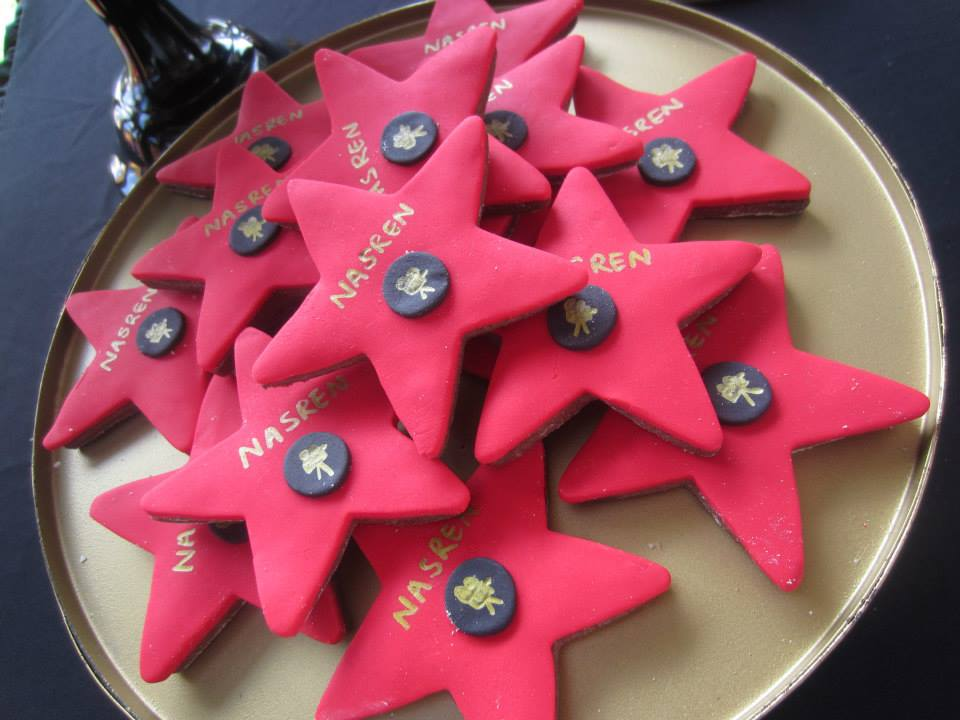 Hollywood Baby Shower - A Star is Born cookies star