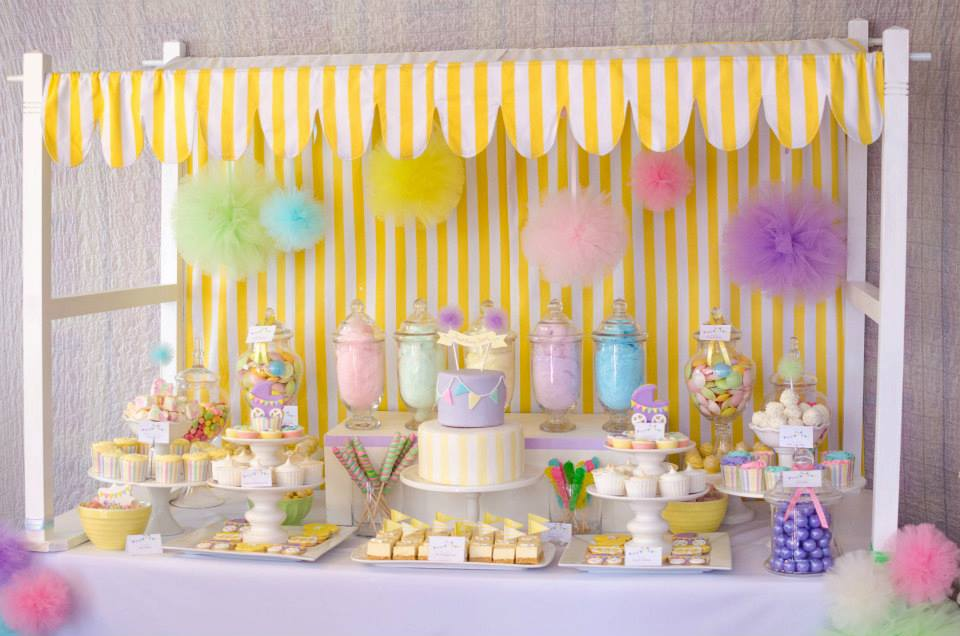 fairy floss baby shower party