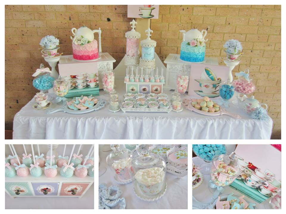 Pastel Blue and Pink High Tea Party