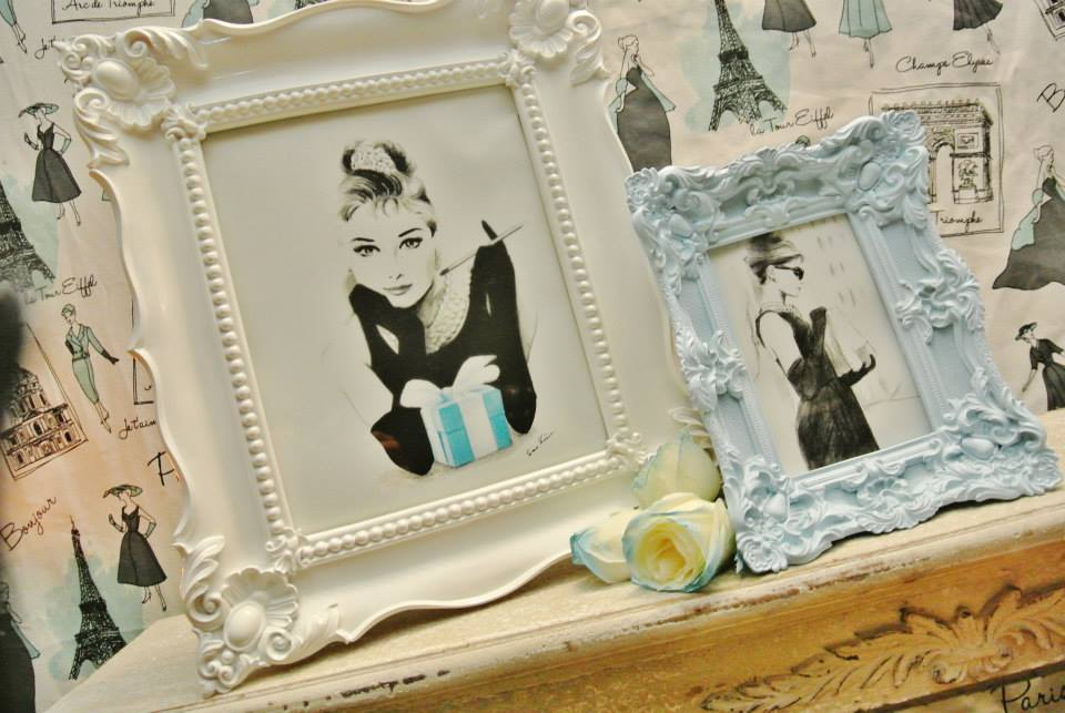 Audrey Hepburn's iconic image in frames